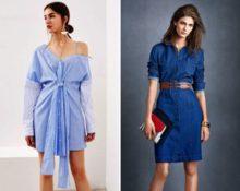 Как правильно носить модное платье-рубашку 2018