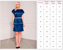 Как правильно подобрать платье по размерной сетке