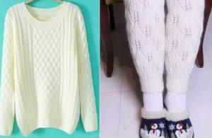 Как сделать гетры из другой ненужной одежды