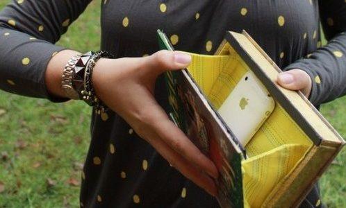 Модный клатч из книги