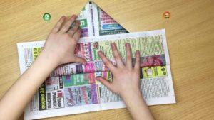 как сделать пилотку из газеты