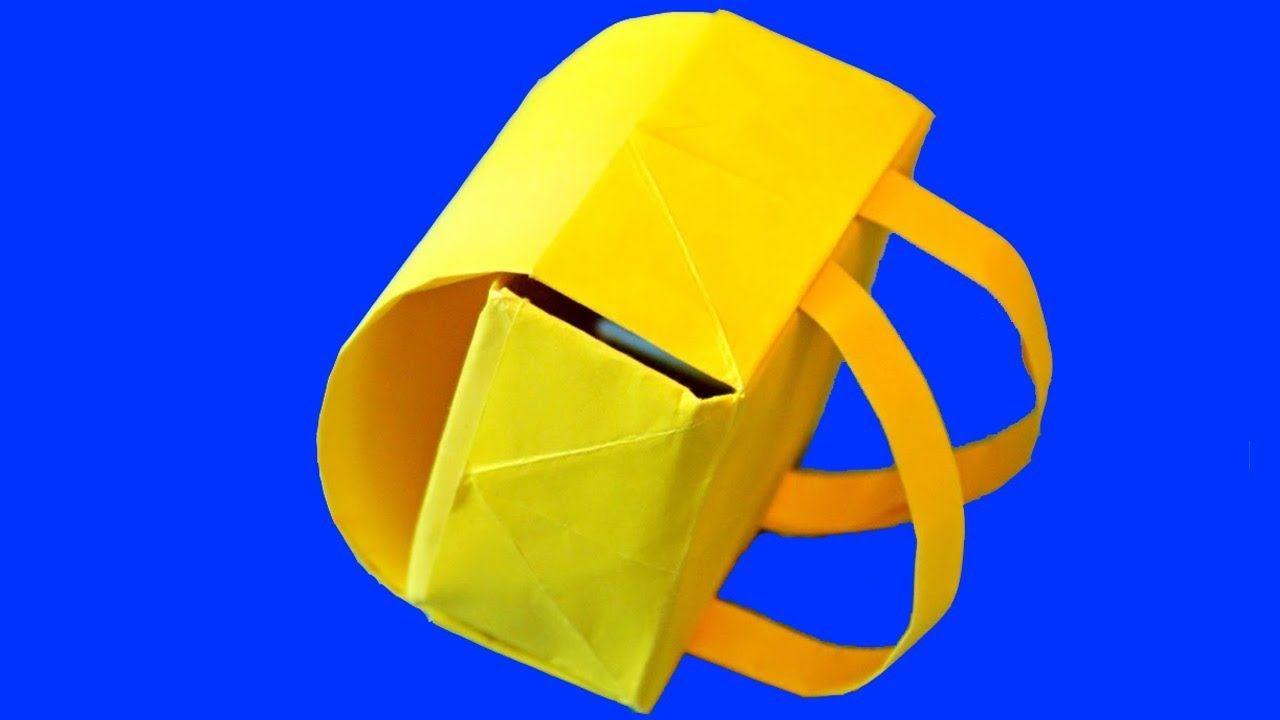 Желтый портфель рюкзак для кукол