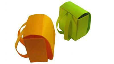 Желтый и зеленый портфели