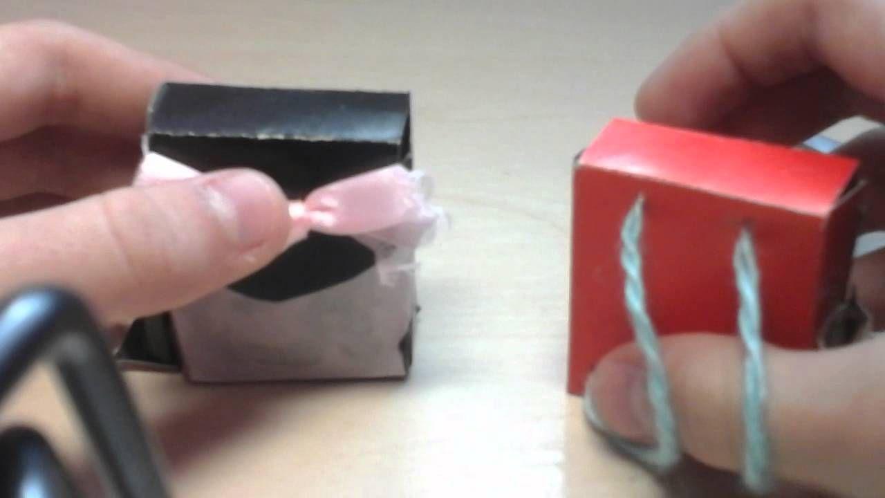 Портфели из спичечных коробков и ниток