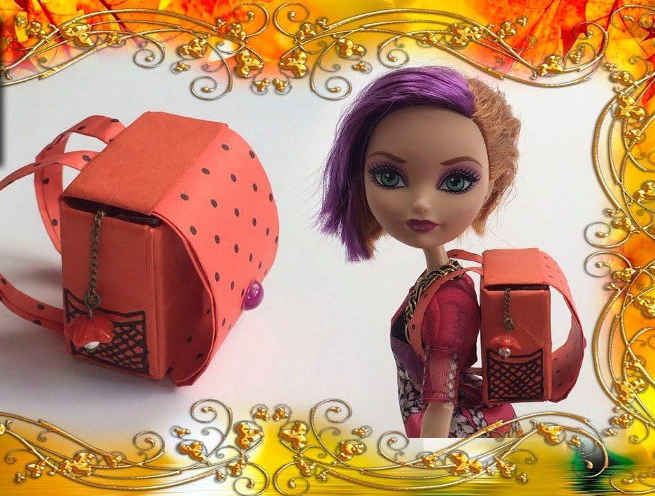 Портфель для куклы рыжий
