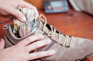 Как сушить замшевые кроссовки