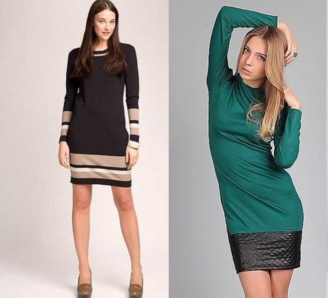 Удлиняем платья контрастами