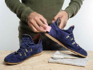 Чистка замшевых туфлей