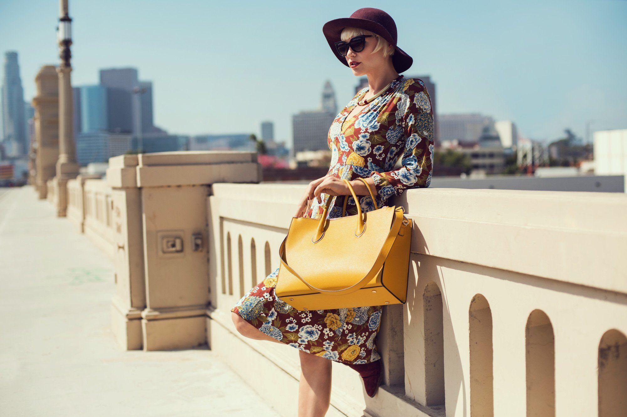 Желтая сумка для лета