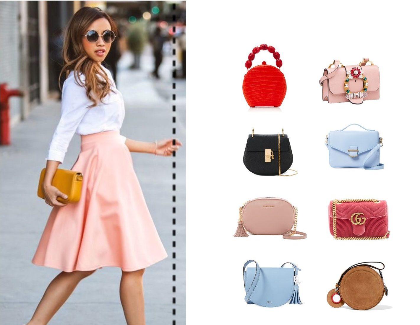 Варианты сумок для девушек ростом до 165 см