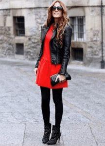 колготки для красного платья