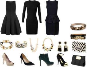 выбор туфель для черного платья