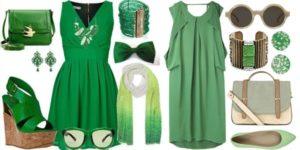 украшения к зеленому платью