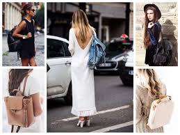 Какой рюкзак можно носить с платьем