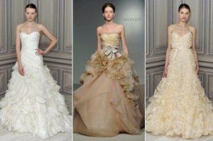 платья разных оттенков айвори
