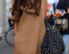 Кофейное платье модель 2