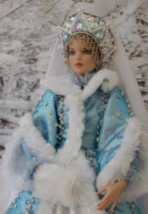 Кокошник для куклы снегурочки