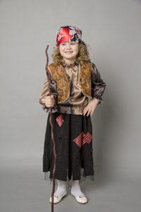 костюм бабы яги для девочки