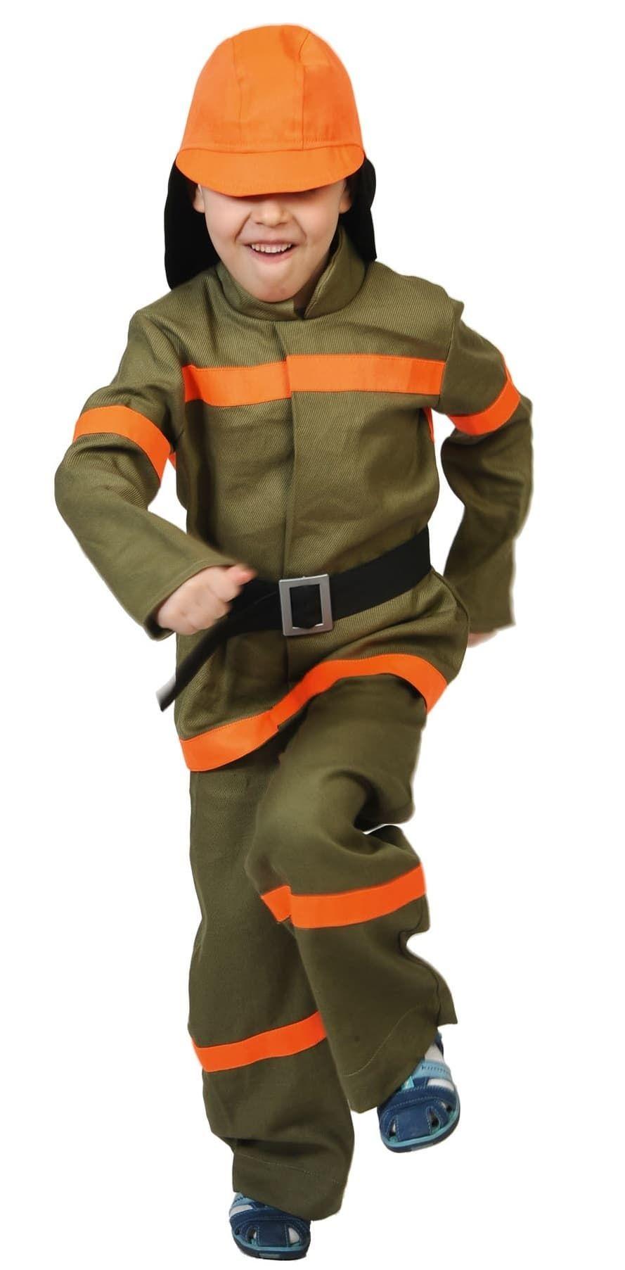 Зеленый костюм пожарного