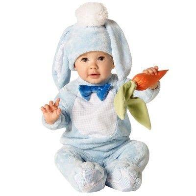Костюм зайчика голубой с морковкой
