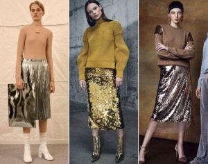 металлизированные юбки 2019