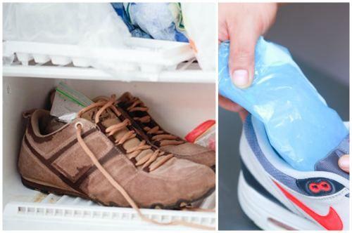 Кроссовки в морозильной камере