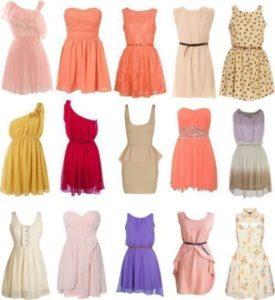 различные модели летних платьев и сарафанов