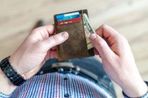 кошелек с визитками
