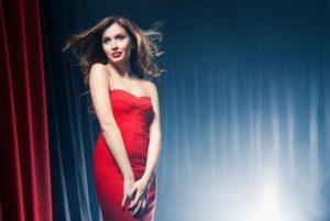 красное платье русалка