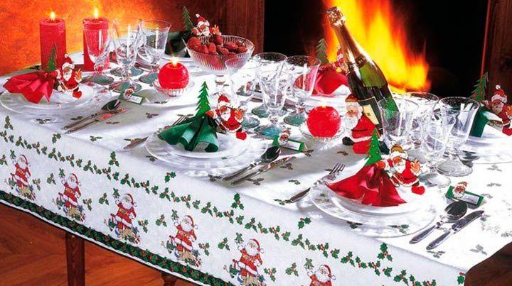 Новогодний стол скатерть