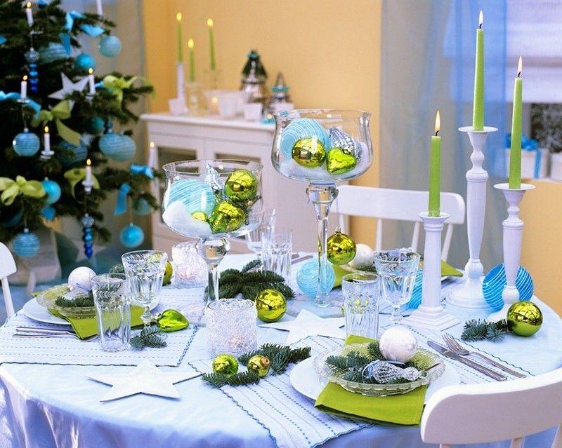 Свечи новогоднего стола