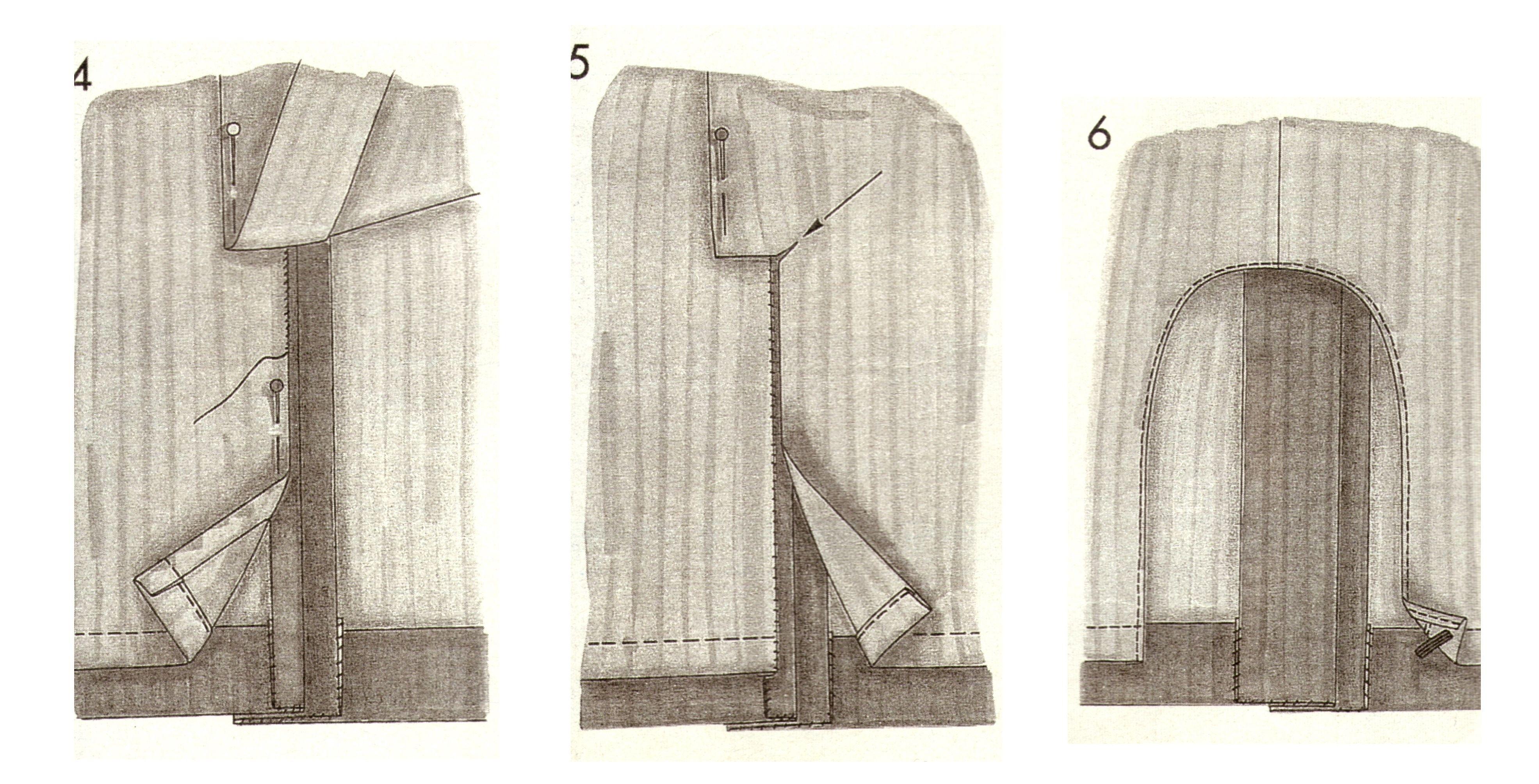 Обработка шлицы на юбке 5