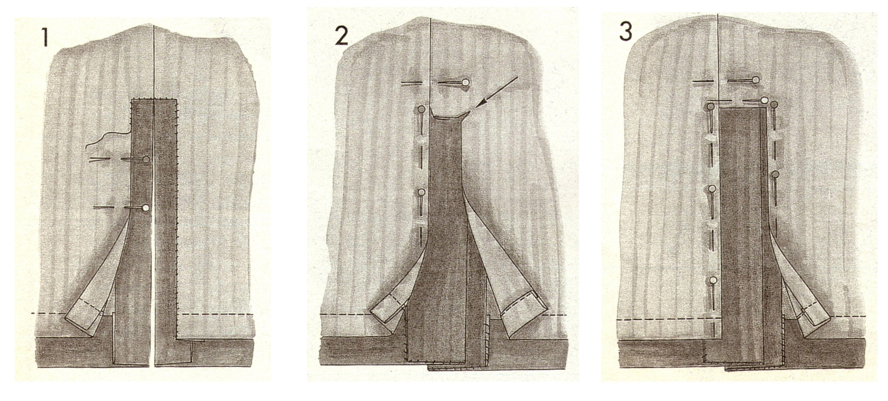 Обработка шлицы на юбке 3