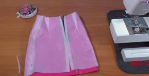 Основные правила пришивания юбки на юбку