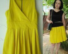 Особенности переделки платья в юбки