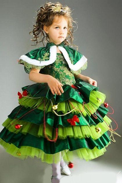 Платье Ёлочка на Новый год