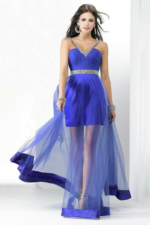 Платье удлиняем прозрачным футляром