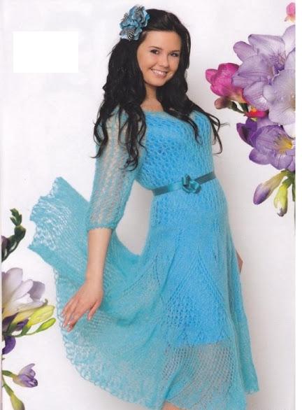 Платье из мохера модель 2