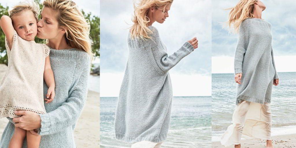 СНежно-серое платье свитер