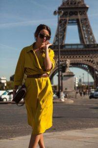 желтое платье рубашка