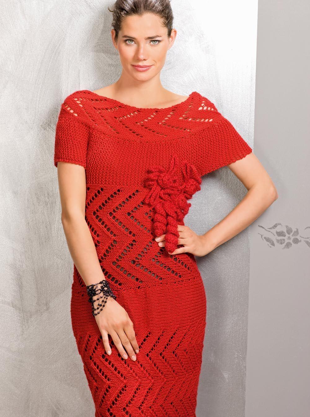 Красное платье на круглой кокетке