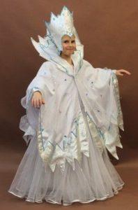 платье снежной королевы для девочки