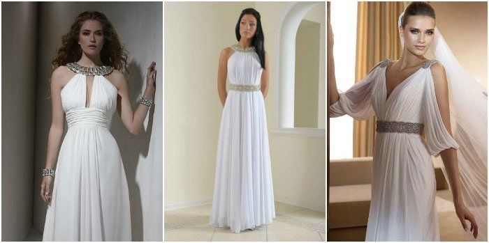 варианты декора платья в греческом стиле