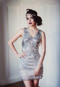 блестящее платье в стиле гэтсби