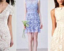 короткие платья из гипюра