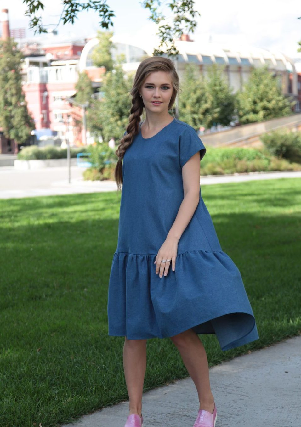 Джинсовое платье оверсайз 2