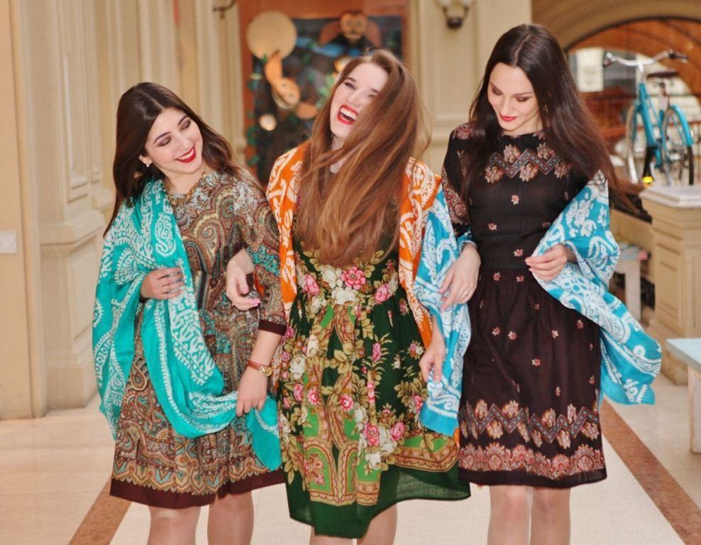 Платья из платков оверсайз