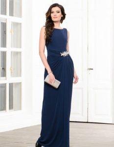 длинное платье с прической