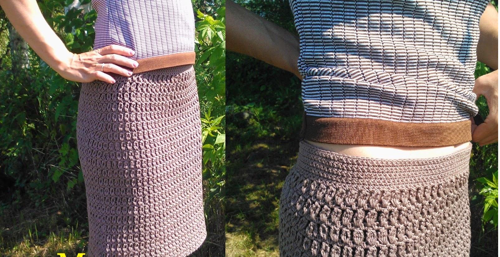 Пряма юбка крючком модель 3