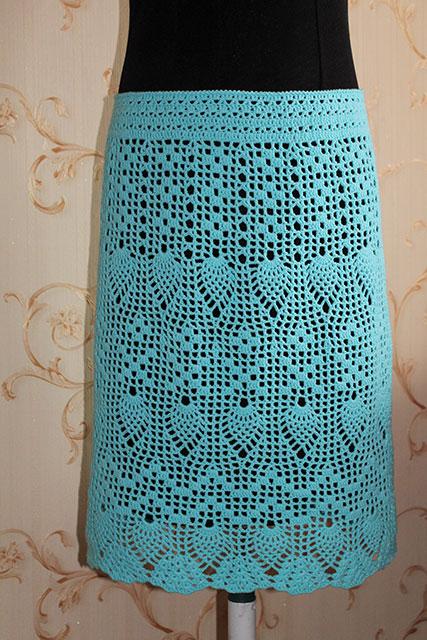 Пярмая юбка крючком фото
